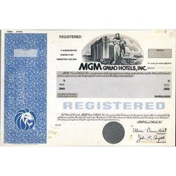 U.S. MGM Grand Hotels, Inc. Model.