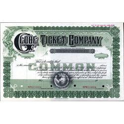 Philadelphia, PA. U.S. Globe Ticket Company.
