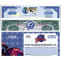 U.S. Colorful Modern Stock Certificates (5).