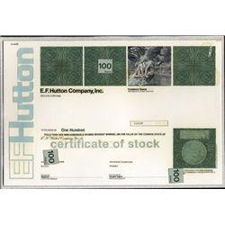 U.S. E.F. Hutton Co., Inc. Unique Model or Mockup.