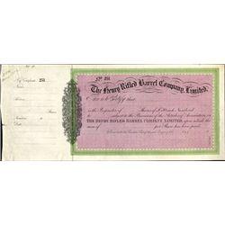 England.  The Henry Rifled Barrel Company, Ltd.