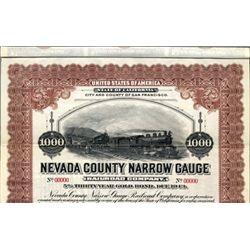 U.S. The Nevada County Narrow Guage Railroad Co.