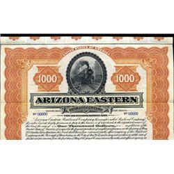Arizona. U.S. Arizona Eastern Railroad Co.