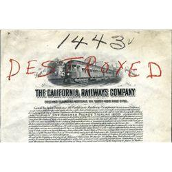 California Railways Co. Proof Bond