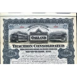 California. U.S. Oakland Traction Consolidated.