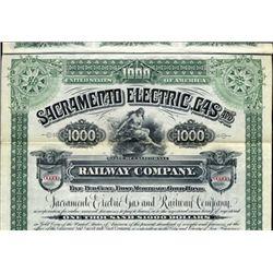 California. U.S. Sacramento Electric, Gas and Rail