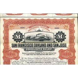 CA. San Francisco, Oakland and San Jose Cons Rwy