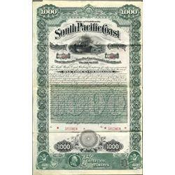 CA. The Southern Pacific Coast Railroad Co.