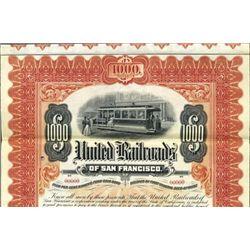 California. U.S. United Railroads of San Francisco