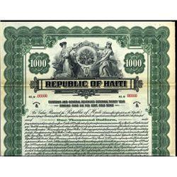 Haiti, Republic of Haiti.