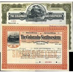 Colorado. U.S. Early and Scarce Colorado Railroad