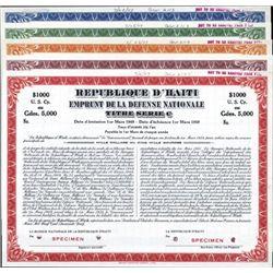 Haiti Republique D'Haiti - Emprunt de la Defense N
