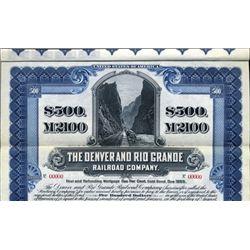 Colorado. U.S. The Denver and Rio Grande Railroad