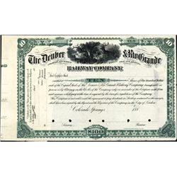 The Denver & Rio Grande Railway Co. Proof