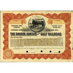 Kansas. U.S. Dakota, Kansas and Gulf Railroad.