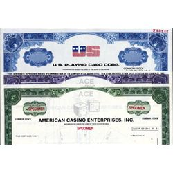 U.S. Casino and Gambling Stock Certificates (5).