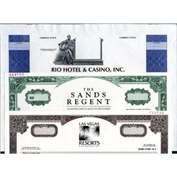 U.S. Casino and Gambling Stock Certificates (8).