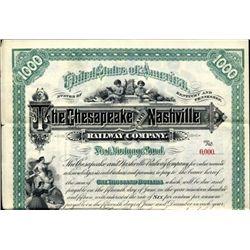 Chesapeake and Nashville Railway Co. Bond
