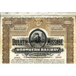 Duluth Missable and Northern Railway Co. Bond