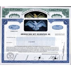 Delaware. U.S. Holograms on Stocks and Documents.