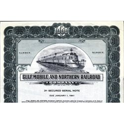 Gulf, Mobile and Northern Railroad Co. Bond