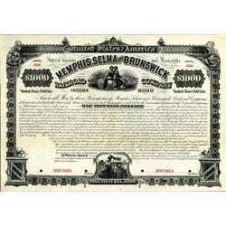 Memphis, Selma and Brunswick Railroad Co. Bond