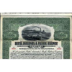 Buttle, Anaconda & Pacific Railway Co. Bond