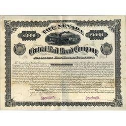 The Nevada Central Railroad Co. Model Bond