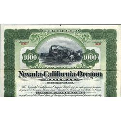 Nevada-California-Oregon Railway Bond