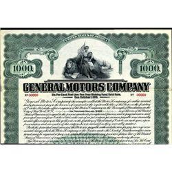 General Motors Co. 1910 Historic Bond Rare!!