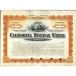 U.S. California Mineral Water Company.