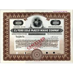 U.S. El Toro Gold Placer Mining Company.