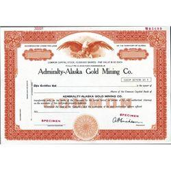 Alaska. U.S. Admiralty-Alaska Gold Mining C.