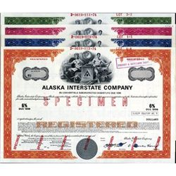Alaska. U.S. Alaska Interstate Co. Bond Assortment