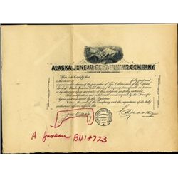 Alaska. U.S. Alaska Juneau Gold Mining Co. Proof