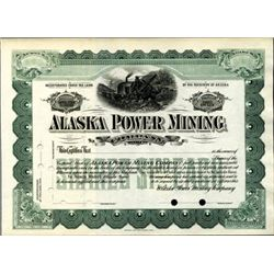 Alaska. U.S. Alaska Power Mining Company.