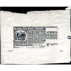 Alaska. U.S. Alaska Gold Mines Company Bond Coupon