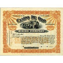 Arizona. U.S. Campo De Oro Mining Company.