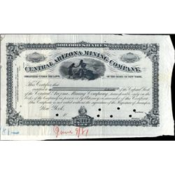 Arizona. U.S. Central Arizona Mining Co. Proof.