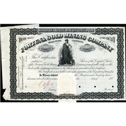 California. U.S. Fortuna Gold Mining Co. Proof.