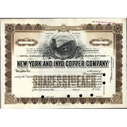 Inyo County, CA. U.S. New York and Inyo Copper Co.