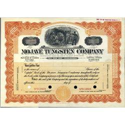 San Bernardino County, CA. U.S. Majave Tungsten Co