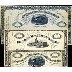 Colorado. U.S. Rare  Lithographic Mining Proofs