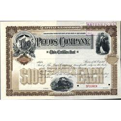 Texas or New Mexico Territory. U.S. Pecos Company