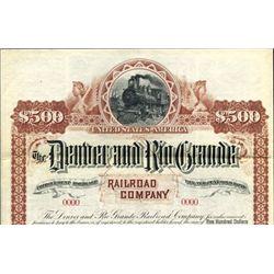 Denver and Rio Grande Railroad Co. Bond