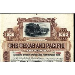 The Texas and Pacific Railway Co. Bond