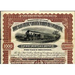 Utah Territory. The San Pete Valley Railway Co. .