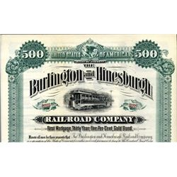 Vermont. U.S. Burlington and Hinesburgh Railroad