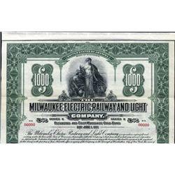 Milwaukee Electric Railway and Light Co. Bond