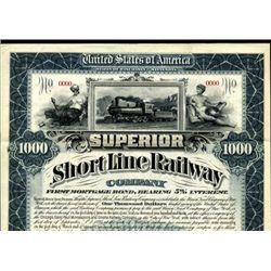 Superior Short Line Railroad Co. Bond